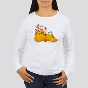 Autumn Pumpkins Women's Long Sleeve T-Shirt