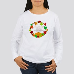 Thanksgiving Wreath Long Sleeve T-Shirt