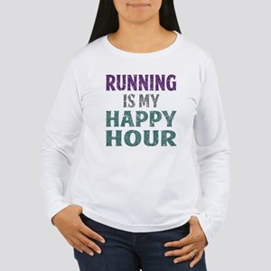 Running Is My Happy Ho Women's Long Sleeve T-Shirt