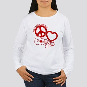 P, L, UKULELES Women's Long Sleeve T-Shirt