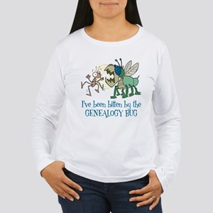 Bitten by Genealogy Bug Women's Long Sleeve T-Shir