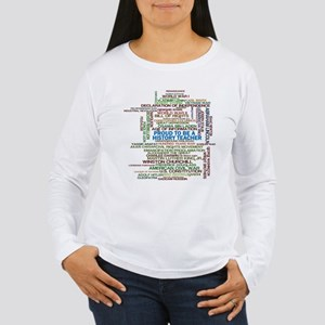 Proud History Teacher Women's Long Sleeve T-Shirt