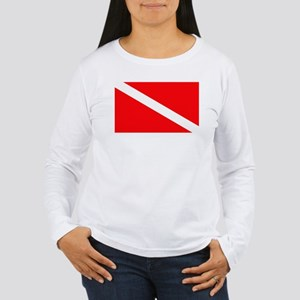 Diver Down Flag Women's Long Sleeve T-Shirt