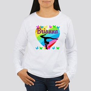 PERSONALIZE GYMNAST Women's Long Sleeve T-Shirt