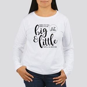 Delta Zeta Big Little Women's Long Sleeve T-Shirt