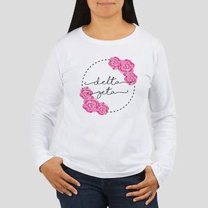 Delta Zeta Floral Women's Long Sleeve T-Shirt