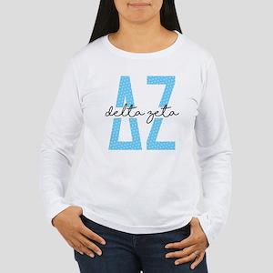 Delta Zeta Polka Dots Women's Long Sleeve T-Shirt