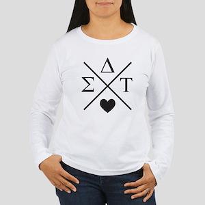 Sigma Delta Tau Cross Women's Long Sleeve T-Shirt