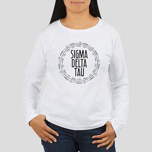 Sigma Delta Tau Arrow Women's Long Sleeve T-Shirt