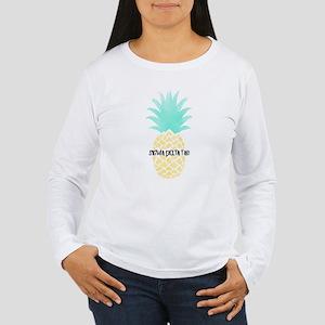 Sigma Delta Tau Pineap Women's Long Sleeve T-Shirt