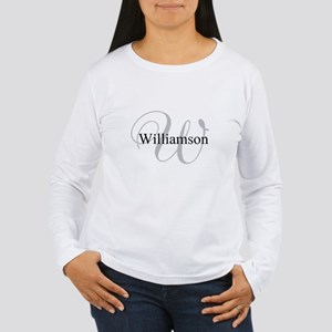 CUSTOM Initial and Nam Women's Long Sleeve T-Shirt