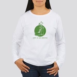 EARTH IS OUR DIRECTIVE Women's Long Sleeve T-Shirt