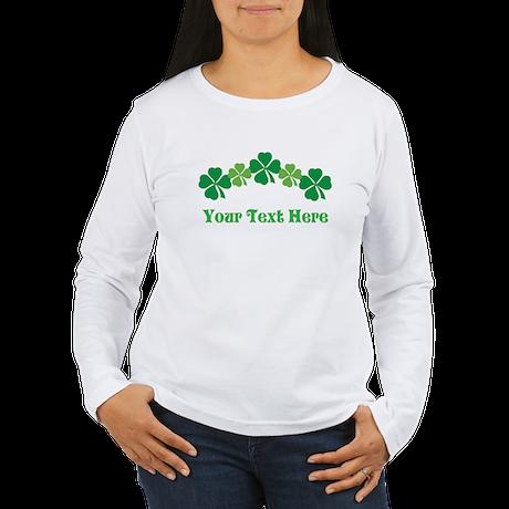 Irish St Patricks Personalized Women's Long Sleeve