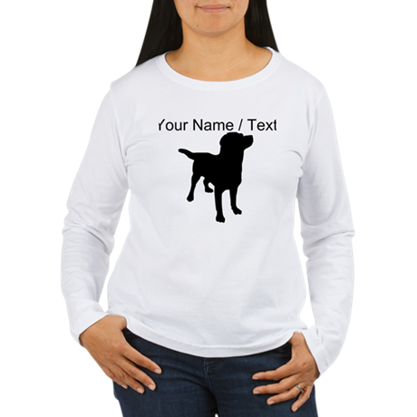 Custom Dog Silhouette Long Sleeve T-Shirt