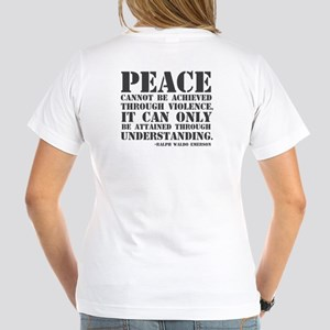Bullet hole peace sign Women's V-Neck T-Shirt