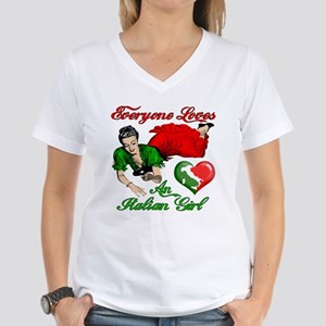 Everyone Loves an Italian Girl Women's V-Neck T-Sh