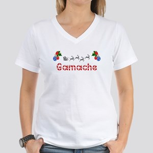 Gamache, Christmas Women's V-Neck T-Shirt