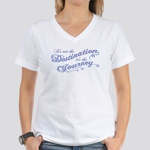 Destination Journey -txt Women's V-Neck T-Shirt