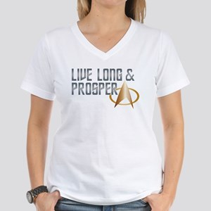 LIVE LONG & PROSPER Women's V-Neck T-Shirt