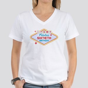 Las Vegas Birthday 60 Women's V-Neck T-Shirt