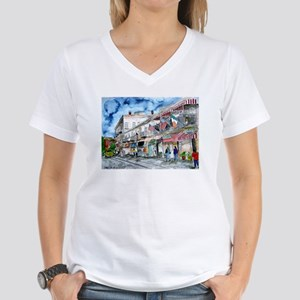 Savannah Georgia River Street Women's V-Neck T-Shi