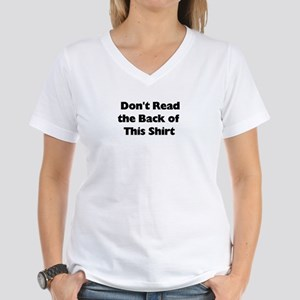 DON'T LOOK BACK Women's V-Neck T-Shirt