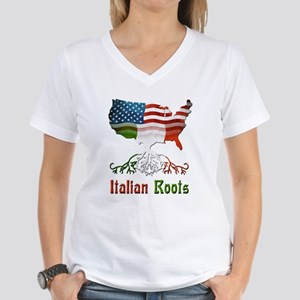 American Italian Roots Women's V-Neck T-Shirt