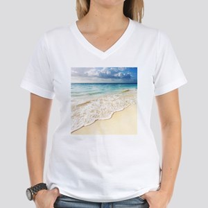 Beautiful Beach Women's V-Neck T-Shirt
