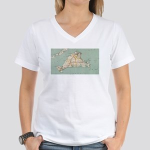 Vintage Map of Martha's Vineyard (1917) T-Shirt
