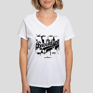 d382684bd Brooklyn NY Graffiti Spray Women's V-Neck T-Shirt