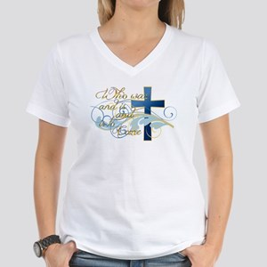 Who was and is and is to come Women's V-Neck T-Shi