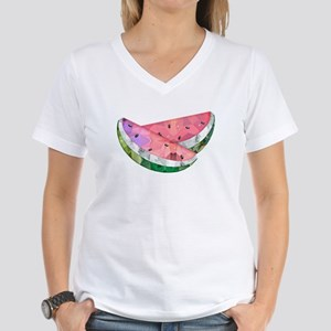 Polygon Mosaic Watermelon Slices T-Shirt