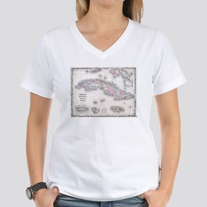 Vintage Map of Cuba (1861) T-Shirt