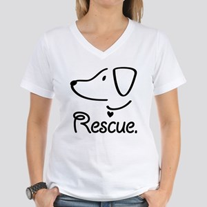 Rescue Dog Women's V-Neck T-Shirt