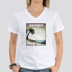 The crack of Dawn Women's V-Neck T-Shirt