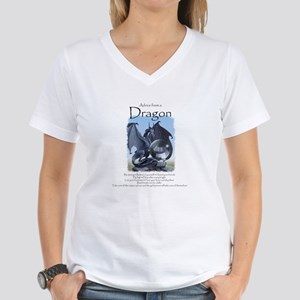 Advice from a Dragon Women's V-Neck T-Shirt