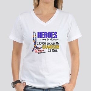 Heroes All Sizes Autism Women's V-Neck T-Shirt