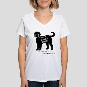 It's a Doodle Thing Women's V-Neck T-Shirt