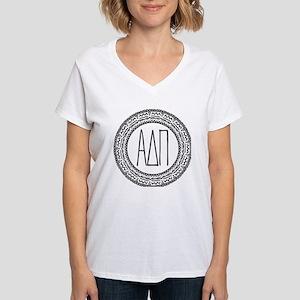 Alpha Delta Pi Medallion Women's V-Neck T-Shirt