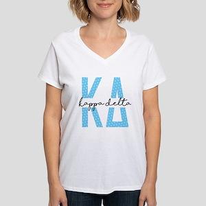 Kappa Delta Polka Dots Women's V-Neck T-Shirt