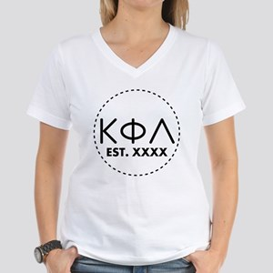 Kappa Phi Lambda Circle Women's V-Neck T-Shirt