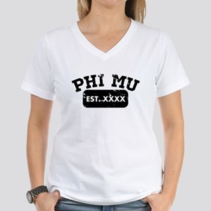 Phi Mu Athletic Women's V-Neck T-Shirt