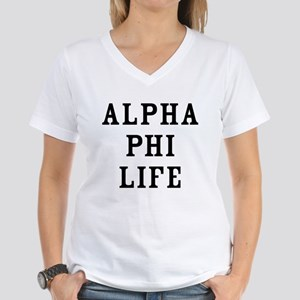 Alpha Phi Life Women's V-Neck T-Shirt