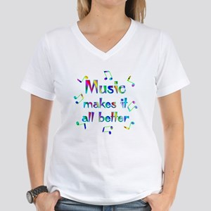 Music Women's V-Neck T-Shirt