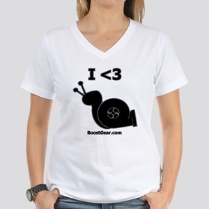 I <3 Turbo Snail - Women's V-Neck T-Shirt