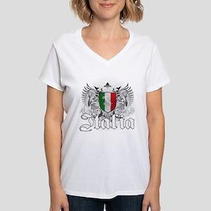 italian pride Women's V-Neck T-Shirt