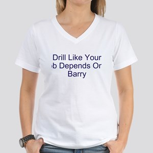 Drill Barry Drill Women's V-Neck T-Shirt
