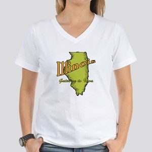Illinois Funny Motto Women's V-Neck T-Shirt