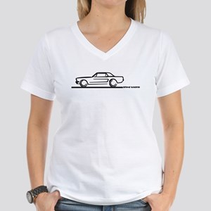 Mustang 64 to 66 Hardtop Women's V-Neck T-Shirt