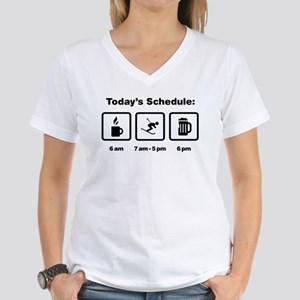 Skiing Women's V-Neck T-Shirt